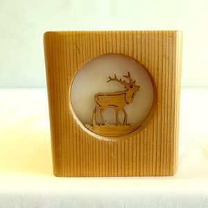 Elk Laser Cut Wood Votive Holder